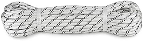 Color : 100M YAXIAO Climbing Rope Outdoor Static Rope 12mm Diameter Length 10//20//30//40//50//60//80//100m White High-Rise Home Emergency Rope Climbing Rope