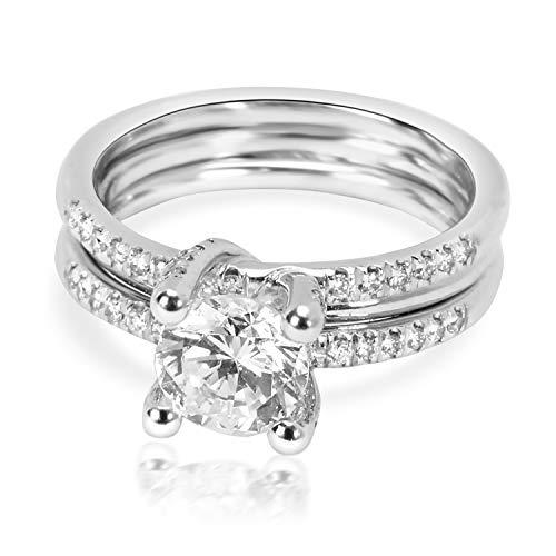 (Simon G Diamond Engagement Wedding Set in 18K White Gold 0.25 CTW)