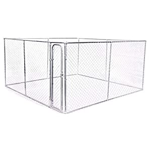 4m x 4m Pet Enclosure Kit Dog Kennel Run Animal Fencing Fence Sturdy and Reliable Easy Assembly Fully Galvanised and… Click on image for further info.