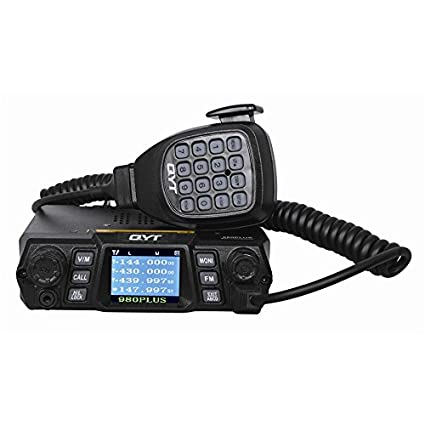 QYT KT-980 Plus Mobile Radio 75W 200CH Multiple Function VHF/UHF Dual Band  Quad band Standby FM Vehicle Transceiver Radio (upgrade version of