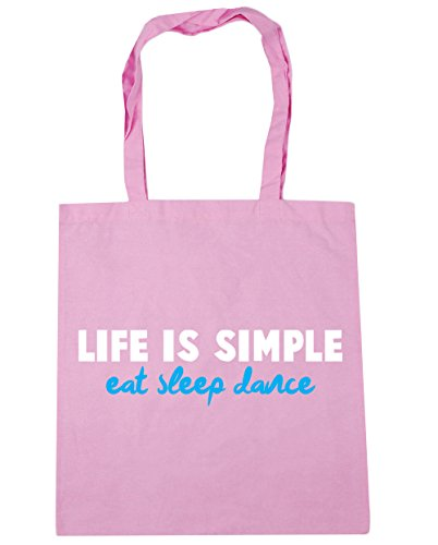 x38cm Pink Beach Sleep Shopping HippoWarehouse Dance Classic is Life Eat Bag 42cm Simple litres 10 Tote Gym xqxa7zgw