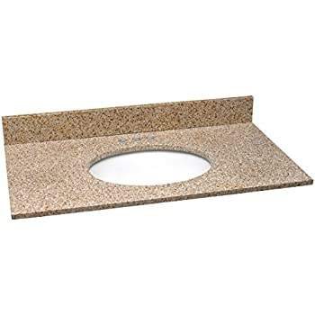 Design House 552489 Granite Vanity Top/Single Bowl, Golden Sand, 37-Inch by 22-Inch