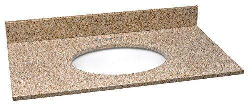 Design House 552471 Granite Vanity Top/Single Bowl, Golden Sand, 31-Inch by 22-Inch
