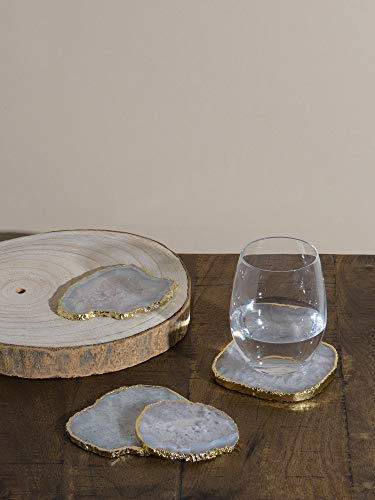 Best Home Fahion Agate Coasters - WHITE - 3.5-4.5