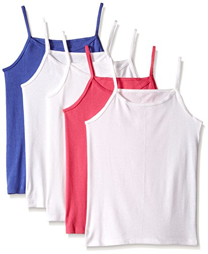 Fruit of the Loom Big Girls 5 Pack Cami, Assorted, Medium
