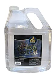 1 Gallon Paraffin Lamp Oil - Clear Smokeless, Odorless, Clean Burning Fuel for Indoor and Outdoor Use - Shabbos Lamp Oil, By Ner Miztavh