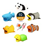 10PCS Cute Cartoon Animal Cable Protector Charging Cord USB Covers Cable Bites Phone Accessories by HTTFASHION