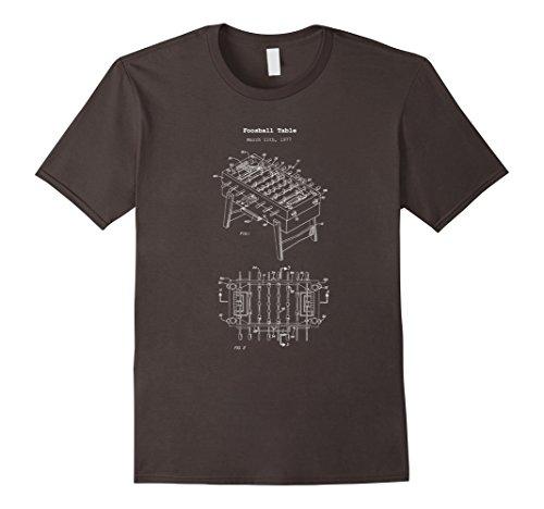 Mens Vintage Foosball Table Shirt - Soccer Game Tournament Tee Medium Asphalt - Championship Foosball