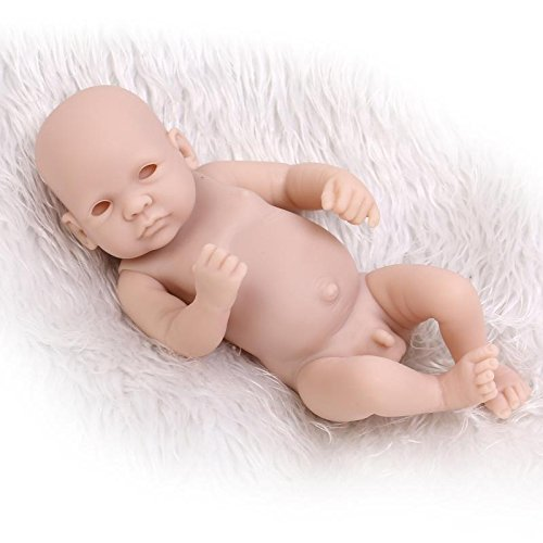 "Zero Pam Unpainted Life Like Reborn Baby Dolls Kit Handmade 10"" Boy Full Vinyl Silicone Reborn Doll Kit DIY with Your Kids"