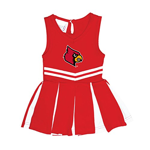 Louisville Cardinals NCAA Newborn Infant Baby Cheerleader Bodysuit Dress (12 Months)