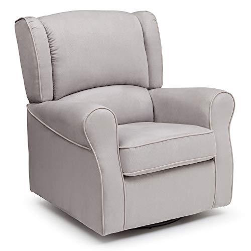Delta Children Morgan Upholstered Glider Swivel Rocker Chair - a good cheap living room chair