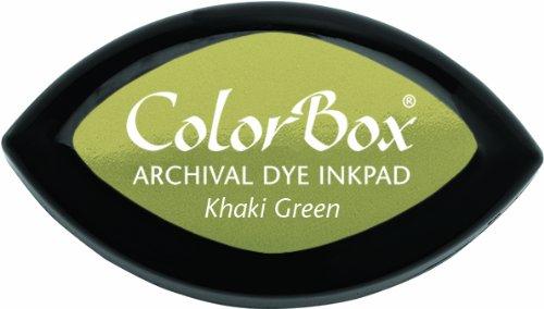 ColorBox Archival Dye Cat's Eye Ink Pad, Khaki Green