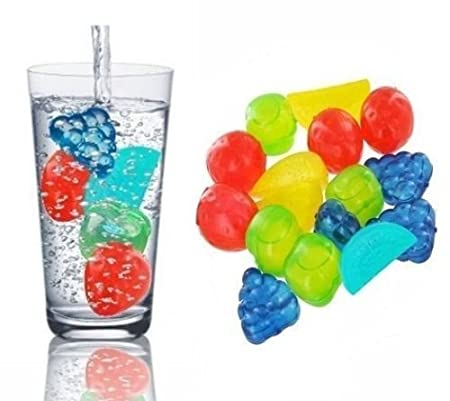Reutilizables fruta forma cubitos de hielo enfriador de bebidas ...