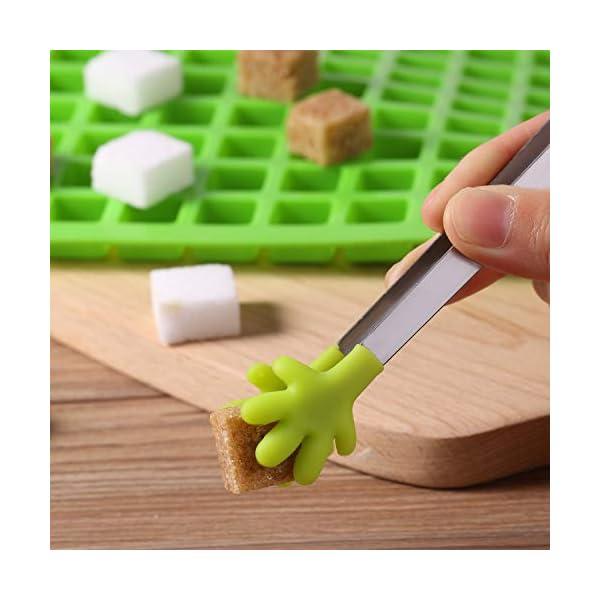 BBTO 2 Pezzi 126-Cavità Stampo Quadrato in Silicone Mini Stampi per Caramelle Vaschetta del Ghiaccio con Clip Contagocce… 6 spesavip