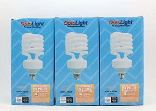 Set of Three !!!OptoLight Compact Fluorescent 42W Bulb