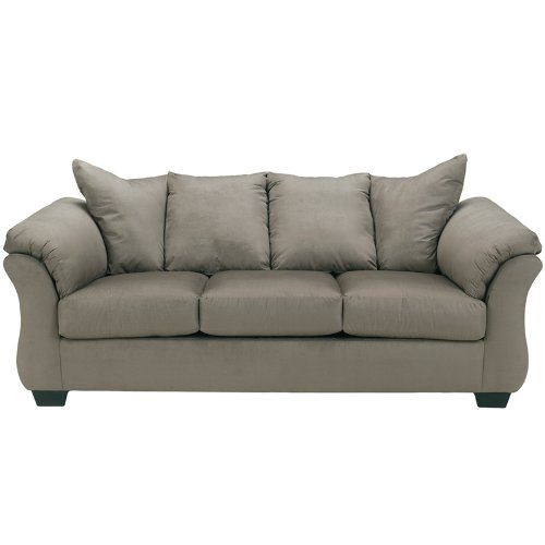 Flash Furniture Signature Design by Ashley Darcy Sofa in Cobblestone Microfiber (Set Style Sofa)