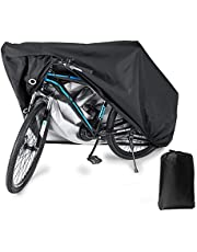 Bloodyrippa Waterproof Bike Cover with Lock Holes for Outdoor Bicycle Storage, Heavy Duty 210T Polyester Taffeta Fabric, PU Coating, UV Protection, Rain-Wind-Dust Proof, for Mountain Bikes, Road Bikes, Electric Bikes
