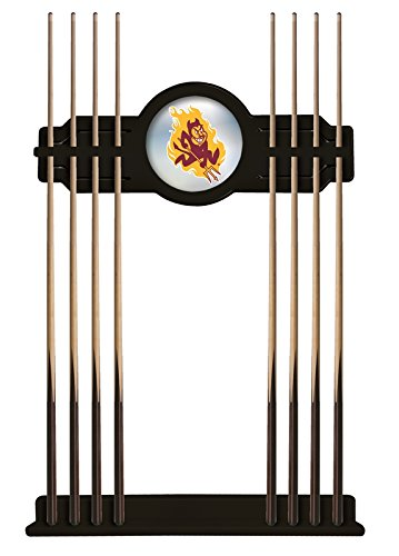 Holland Bar Stool Co. Arizona State Cue Rack in Black Finish with Sparky Logo