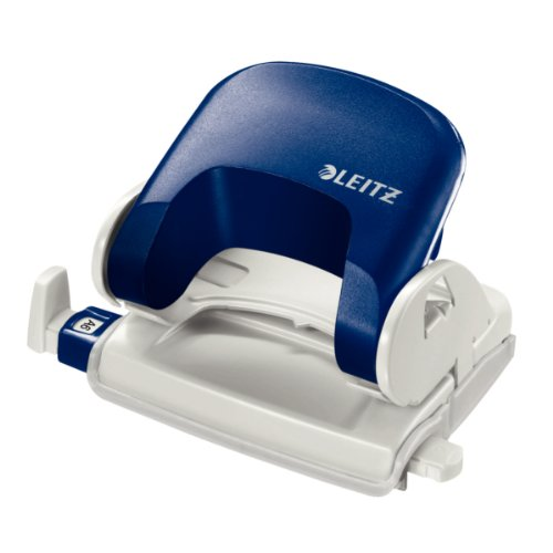 Leitz Topstyle 5038, kleiner Bürolocher, Lochanzahl: 2, Lochabstand: 8 cm, Stanzleistung: 16 Blatt, blau, Ref 50380035