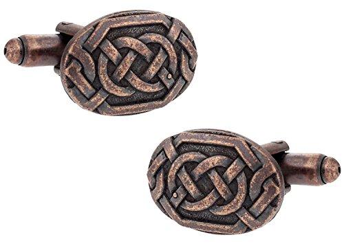 Cuff-Daddy Irish Celtic Cufflinks in Bronze-Tone with Presentation Box