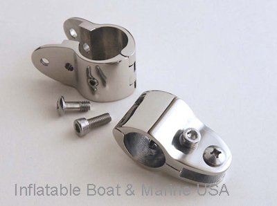 Inflatable Boat & Marine USA Bimini Top Jaw Slide - Hinged Heavy Duty- 7/8 Hardware Fitting Marine Stainless Steel