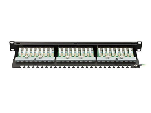 415kaaYYAXL monoprice cat6 ftp 19 inch 1u patch panel dual krone idc, 24 port krone patch panel wiring diagram at panicattacktreatment.co