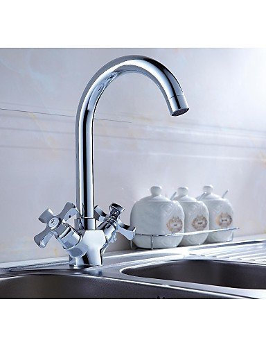 Ling@ Basin mixer Swivel Spout Vanity Sink Mixer Tap Two Handles Kitchen faucet Bathroom Basin Faucet