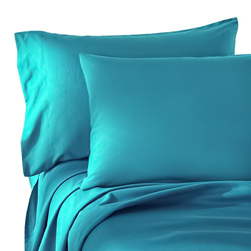 Friends Full Sheet Set - HONEYMOON HOME FASHIONS Brushed Microfiber Full Bed Sheet Set, Blue