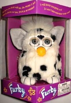 Furby Model 70-800 Dalmatian White with Black Spots Electronic Furbie (Ferbie Toy)