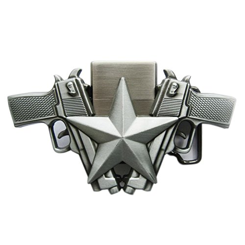 Star Lighter Belt Buckle - New Vintage Guns Star Lighter Belt Buckle also Stock in US