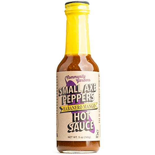 Small Axe Peppers Habanero Mango Hot Sauce, 5 oz- All Natural, Kosher, non-GMO, Community Garden Grown Habanero Pepper Gourmet Hot Sauce, Featured on HOT ONES!