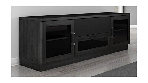 Furnitech 70 Inch Contemporary Console, Ebony Finish, 70