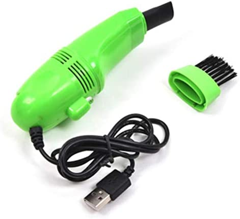 Mini Vacuum Cleaner USB Keyboard Cleaner Kit Notebook Keyboard Cleaning Brush Dust Collector (GREEN)
