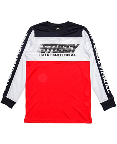 Stussy Mens BMX Long-Sleeve Shirt Large Navy