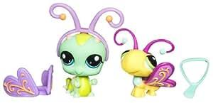 Hasbro Littlest Pet Shop Amigas Pet Shop B 283101480 - Mascotas de juguete coleccionables (2 unidades, oruga y mariposa)