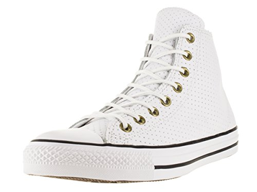 Converse Unisex Chuck Taylor All Star Hi White/Biscui Basketball Shoe 12 Men US