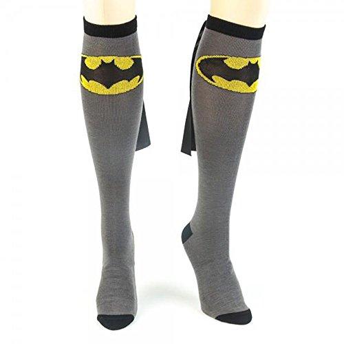 DC Comics Batman Cape Knee High Socks 1 x 1in  Black/Grey  One ()