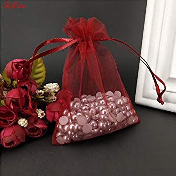 Amazon.com: Bolsas de tul 50 piezas 7x9 9x12 15x20 coloridas ...