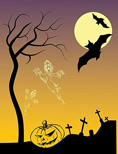 Home Comforts Peel-n-Stick Poster of Pumpkin Scary Drawing Creepy Halloween Poster Vivid Imagery Poster 24 x 16 Adhesive Sticker Poster Print -
