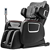 Massage Chair,Zero Gravity Full Body Electric Shiatsu Massage Chair Recliner with Built-in Heat Therapy Foot Roller Air Massage System SL-Track Stretch Vibrating Wireless Bluetooth Speaker (Black)