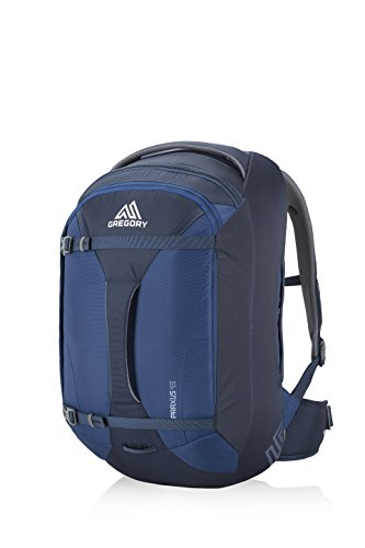 Gregory Mountain Products Praxus 45 Liter Men's Travel Backpack, Indigo Blue, One Size ()