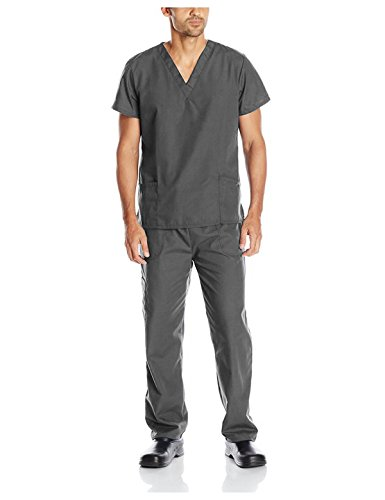 Field Short Sleeve Top (G Med Unisex Scrub Set V-neck Top and Pant 2 PC)