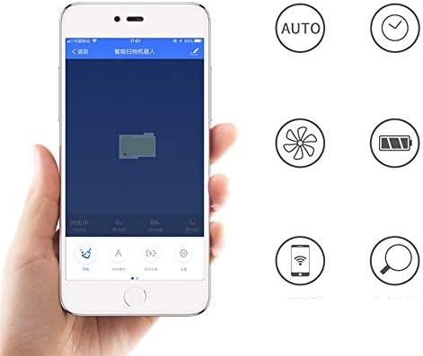 DDIAN Balayage Robot Haut De Gamme Smart Phone APP Contrôle Peut Être Chronométré Entièrement Automatique Ménage Anti-Chute Anti-Collision Grand Endurance Aspirateur Balayeuse