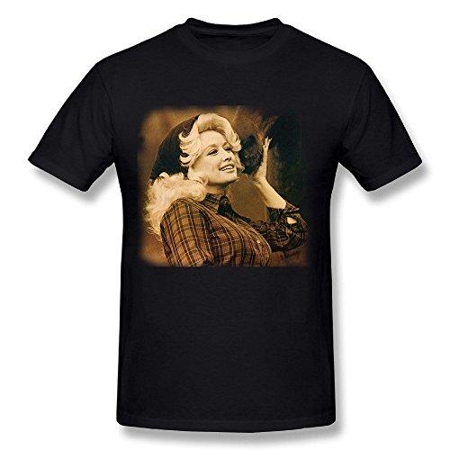 Rantop Dolly Parton Songwriter Mens T Shirt Black L