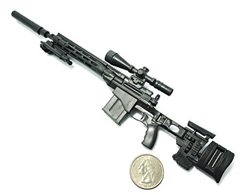 1/6 Scale MSR Sniper Rifle US Army Remington Modular Gun Model Fit For 12
