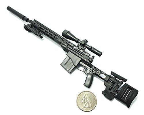 "1/6 Scale MSR Sniper Rifle US Army Remington Modular Gun Model Fit For 12"" Action Figure (Mini Toy Gun 9"" long)"
