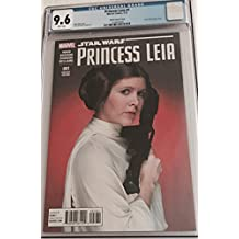 Star Wars PRINCESS LEIA #1 CGC 9.6 (NM+) MOVIE PHOTO COVER VARIANT- 2015 - CARIE FISHER