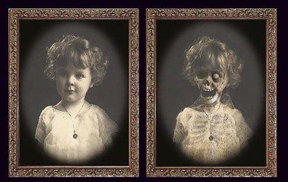 Halloween Horror Portrait Verwandlungsbild 48 cm x 36 cm Galerie des Grauens 03