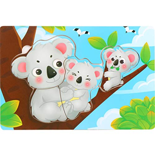 Children Gift,EnjoCho Wooden Puzzle -Cute Painting Giraffe Wooden Drawingboard Animals Puzzle Child Educational Toy (E)