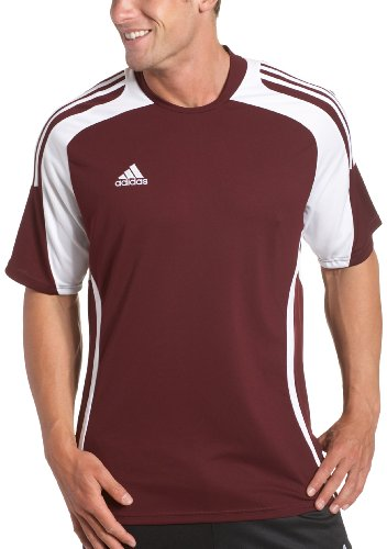 - adidas Men's Toque Jersey, Light Maroon, White, Small